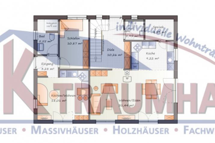Variables Einfamilienhaus mit Einliegerwohnung - www.jk-traumhaus.de - Grundriss EG