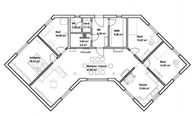 Grundriss 140 qm haus ihr traumhaus ideen for Grundriss traumhaus