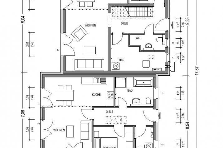 Zweifamilienhaus 130 in NRW und Hessen - EG