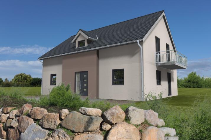 Zweifamilienhaus ca. 2 x  80-90 m², nach jetzt gültiger EnEV - Animation Eingangseite