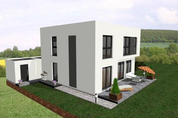 ...individuell geplant ! - Dezent aufgewerteter Kubus mit familienfreundlicher Raumaufteilung - www.jk-traumhaus.de -