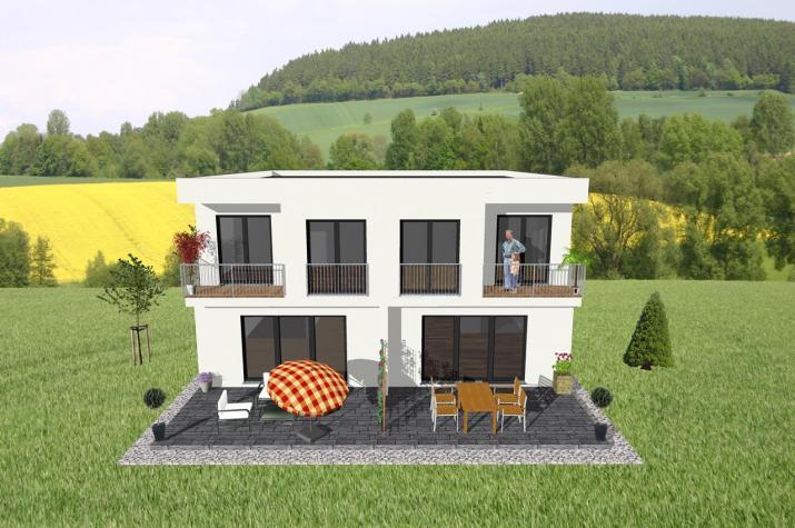 ...individuell geplant ! - Doppelhaus im Bauhausstil - www.jk-traumhaus.de -