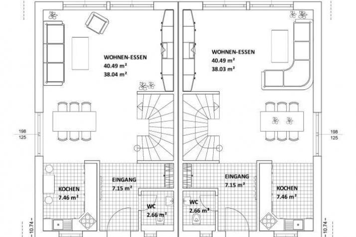 ...individuell geplant ! - Geradlinig, funktional und wandelbar mal zwei - www.jk-traumhaus.de - Grundriss EG