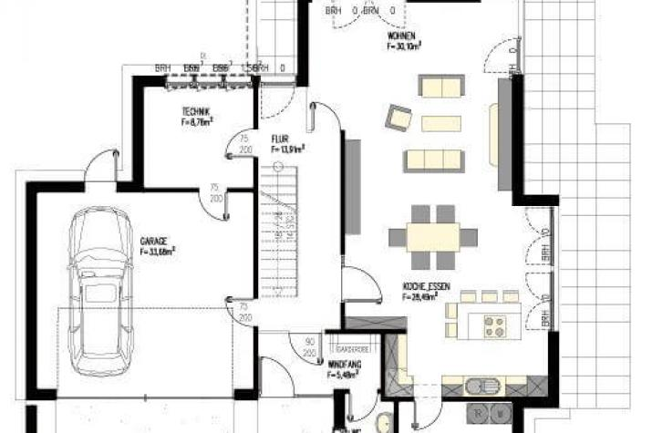 ...individuell geplant ! - Imposantes Bauhaus mit interessanter Fassadengestaltung - www.jk-traumhaus.de - Grundriss EG