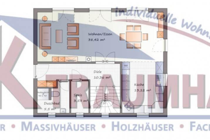 ...individuell geplant ! - Klassisches Einfamilienhaus mit modernen Details - www.jk-traumhaus.de - Grundriss EG
