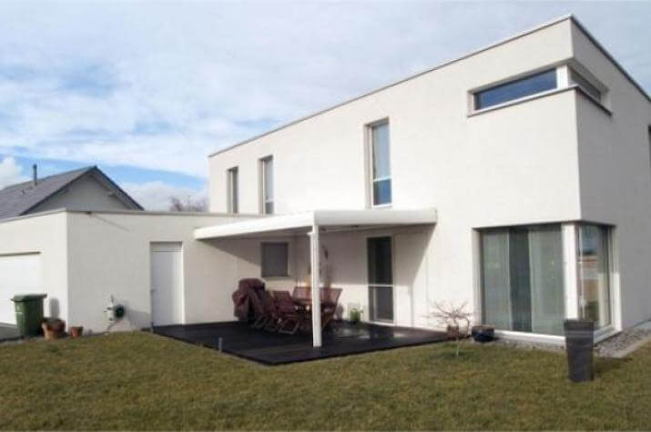 ...individuell geplant ! - Kubische Villa im Bauhausstil mit Dachterrasse und Doppelcarport - www.jk-traumhaus.de - grundriss ke