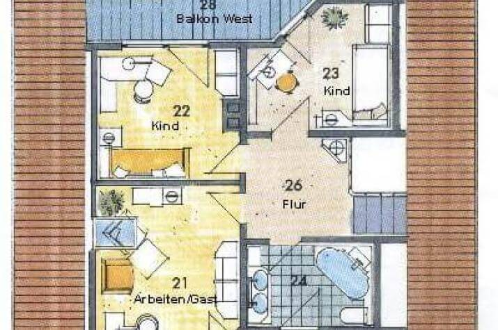 ...individuell geplant ! - Landhaus mit zwei Balkonen - www.jk-traumhaus.de - grundriss dg