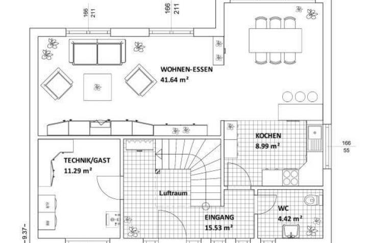 ...individuell geplant ! - Markante Bauhausvilla - Wohnen in zeitloser Moderne - www.jk-traumhaus.de - grundriss eg