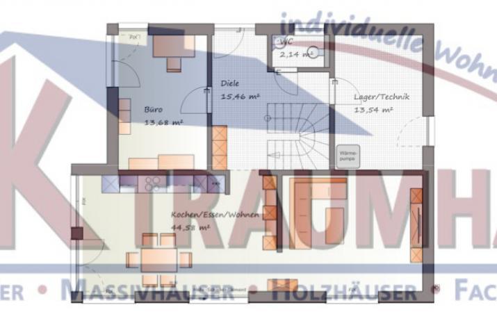 ...individuell geplant ! - Markante Designkomposition für gehobene Ansprüche - www.jk-traumhaus.de - Grundriss EG