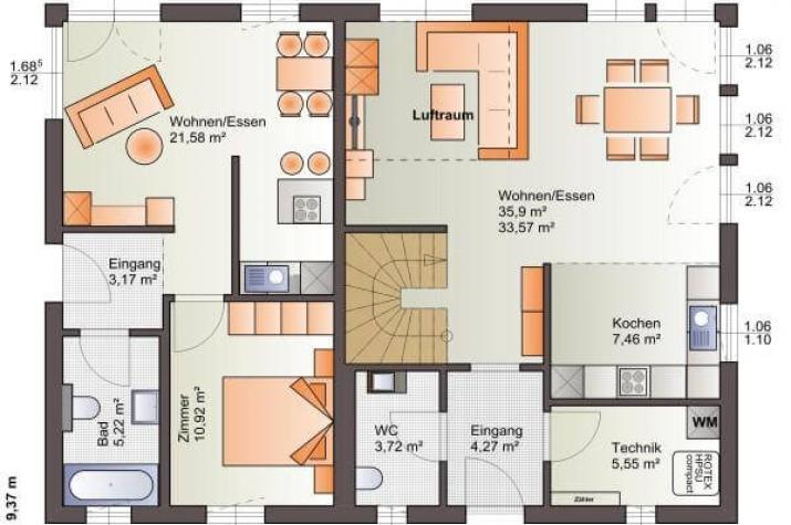 ...individuell geplant ! - Moderne Architektur für zwei - www.jk-traumhaus.de - Grundriss EG