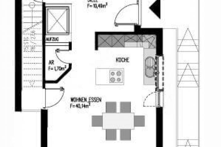 ...individuell geplant ! - Schmales Stadthaus im Bauhausstil - www.jk-traumhaus.de - Grundriss EG