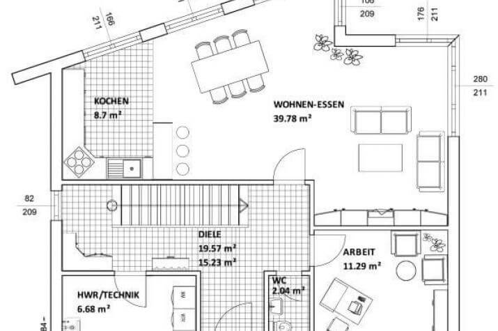 ...individuell geplant ! - Schräge Architektur unter versetztem Pultdach - www.jk-traumhaus.de - grundriss eg