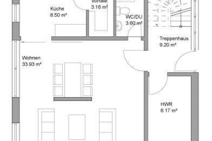 ...individuell geplant ! - Stadtvilla in moderner Architektur mit großen Fensterflächen- www.jk-traumhaus.de - Grundriss EG