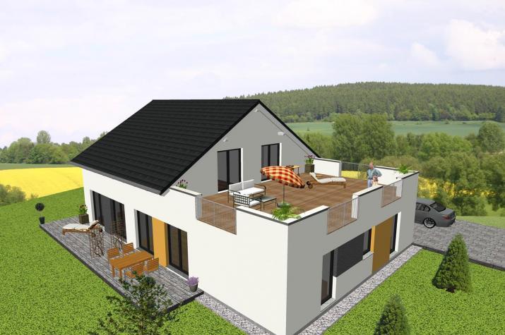 ...individuell geplant ! -Generationshaus mit Dachterrasse - www.jk-traumhaus.de -