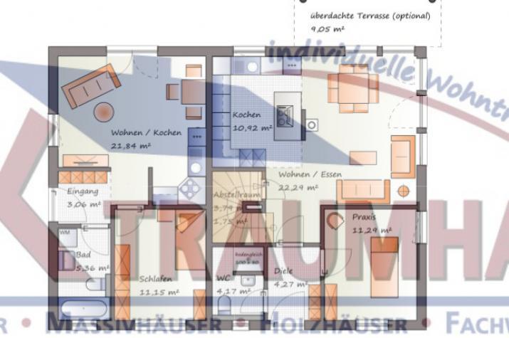 ...individuell geplant ! Klassische Architektur für zwei  - www.jk-traumhaus.de - Grundriss EG